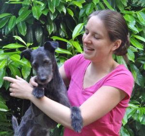Atelier de motricité avec une chienne