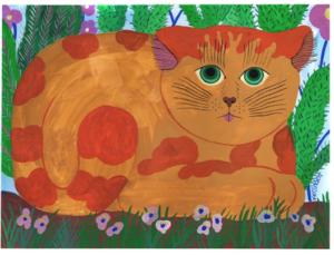 Vernichage de l'exposition Esprit, es-tu chat? d'Adèle Verlinden